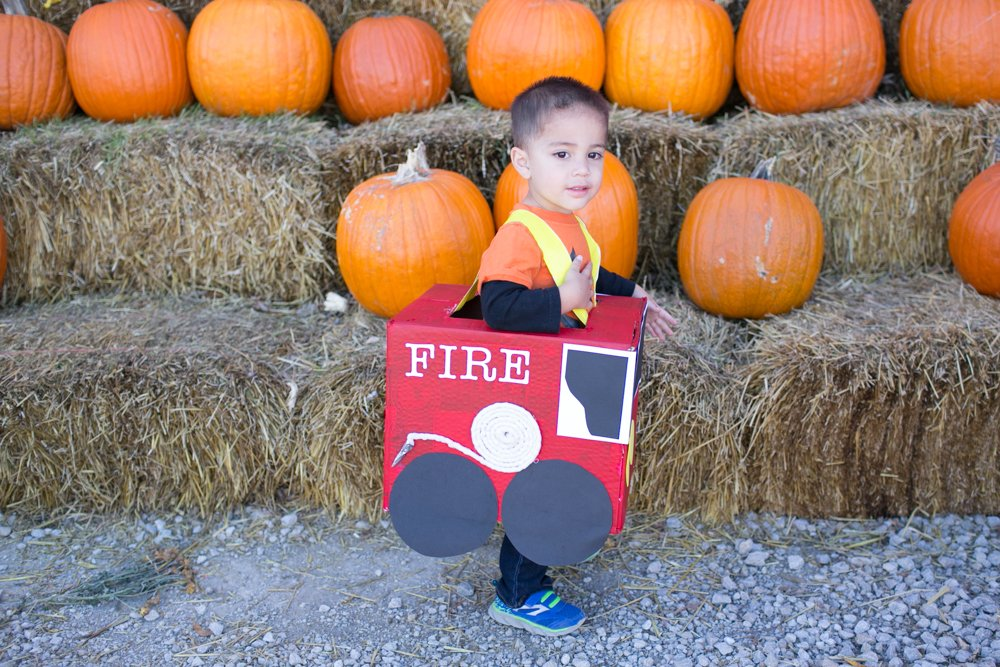 DIY Fire Truck Costume Out of Boxes