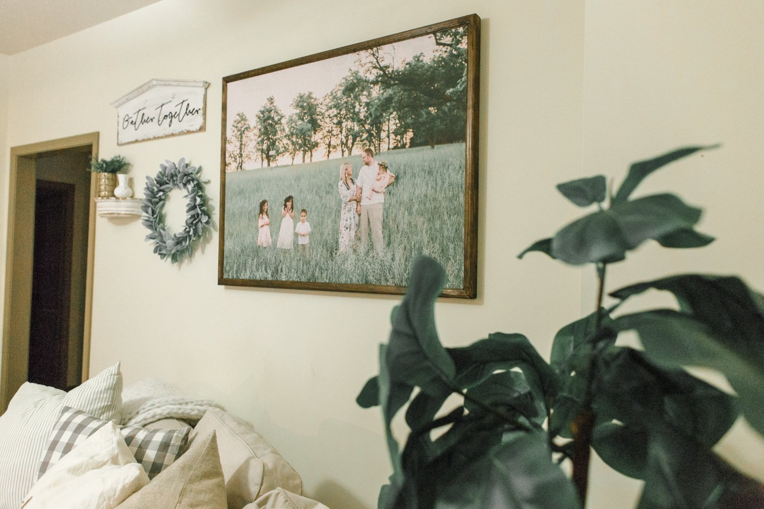 Giant Family Photo On Wall Inexpensively