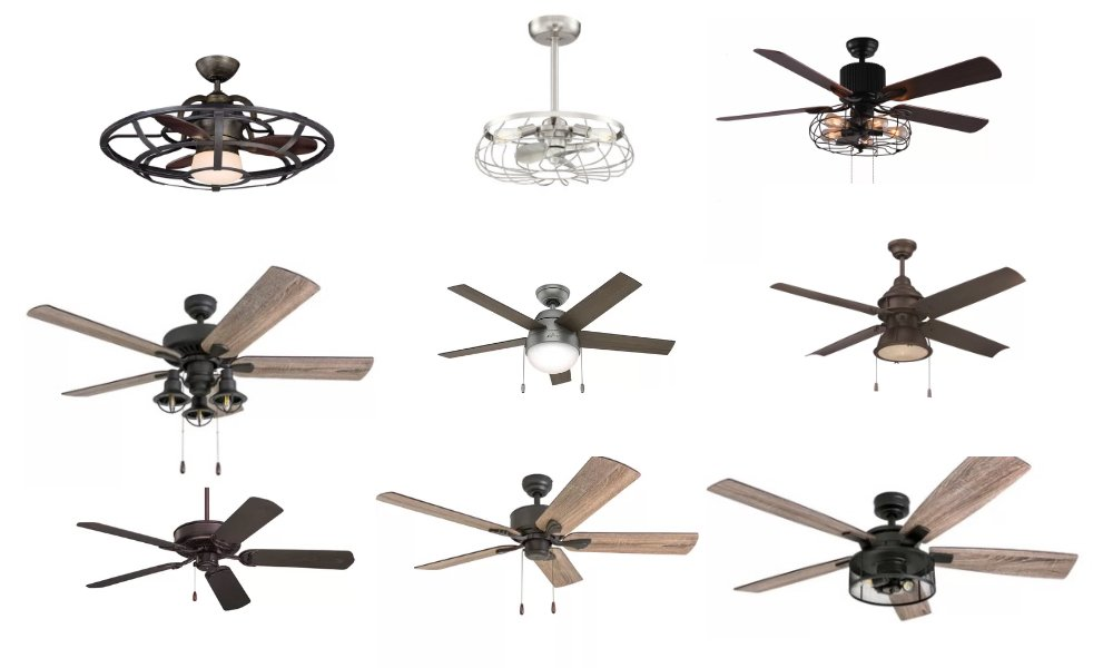 The Best Sources Online for Modern Farmhouse Ceiling Fans
