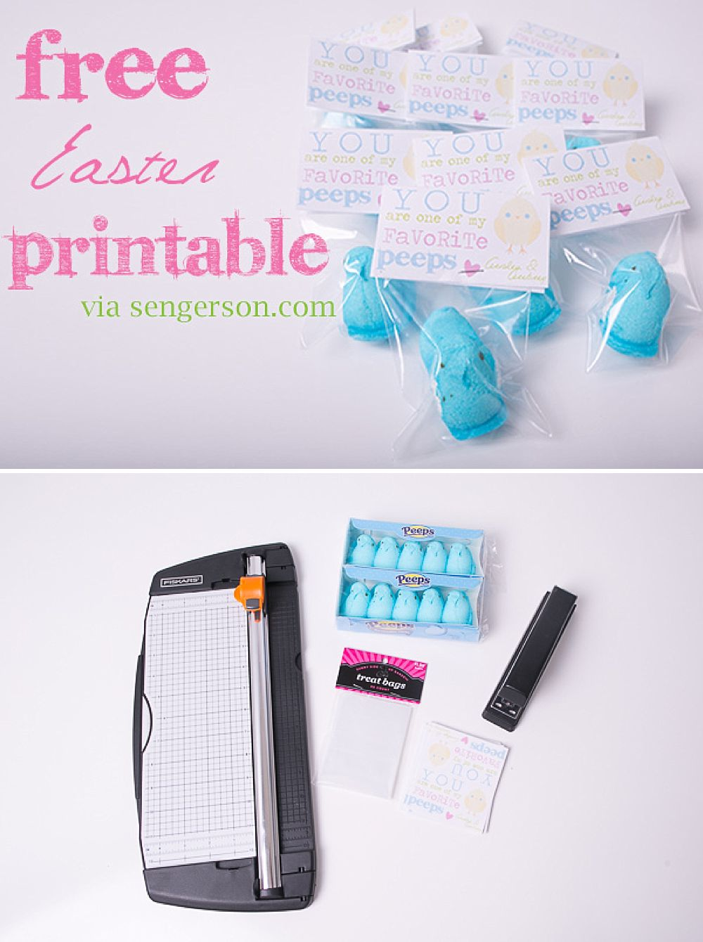 Easy and fun peeps idea for school with a free printable for Easter!