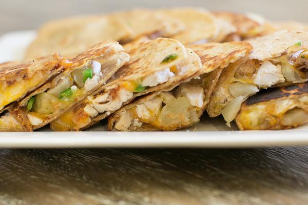 Cheesy Buffalo Chicken Quesadilla with Jalapenos