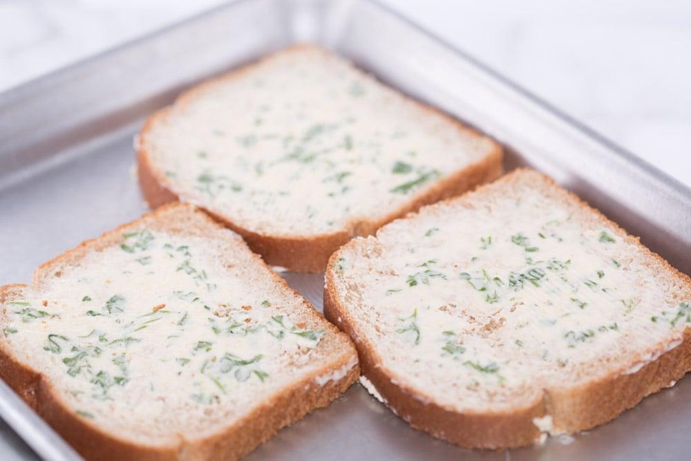 Quick Homemade Garlic Bread from Regular Bread