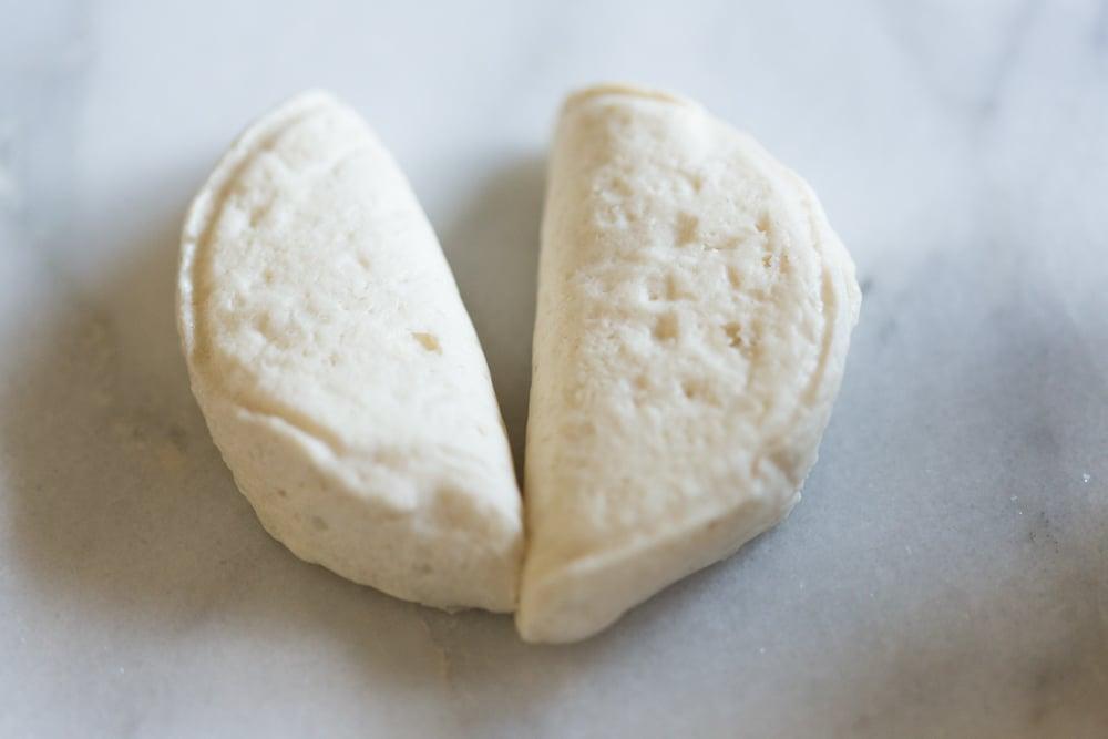 garlic knots recipe ingredients biscuits halved