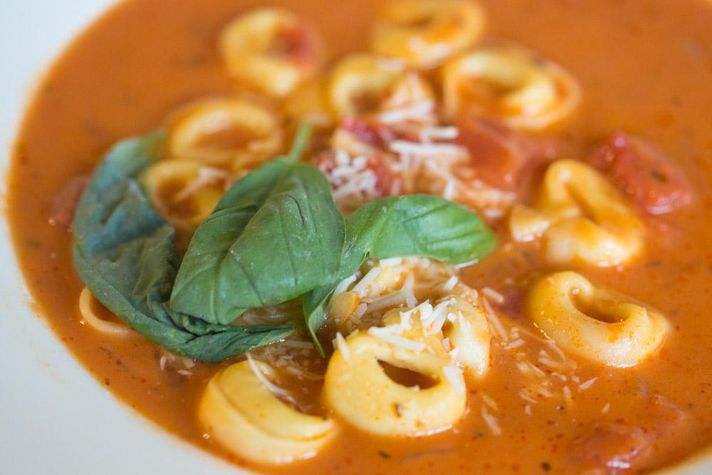 Delicious Creamy Tomato Based Tortellini and Chicken Soup Recipe