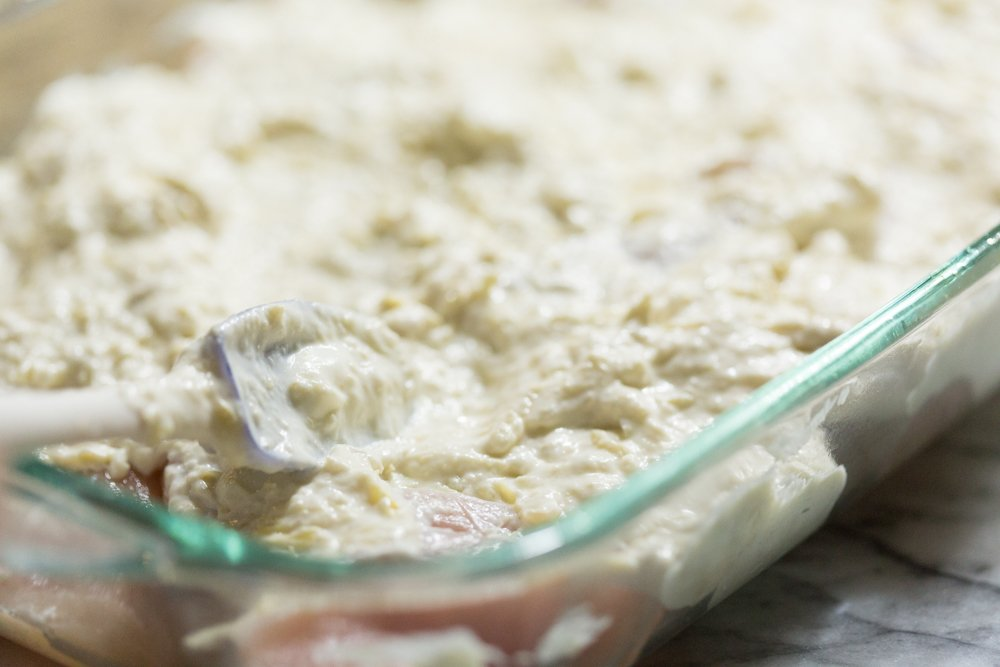 Easy Chicken Artichoke Bake Casserole on a Weeknight