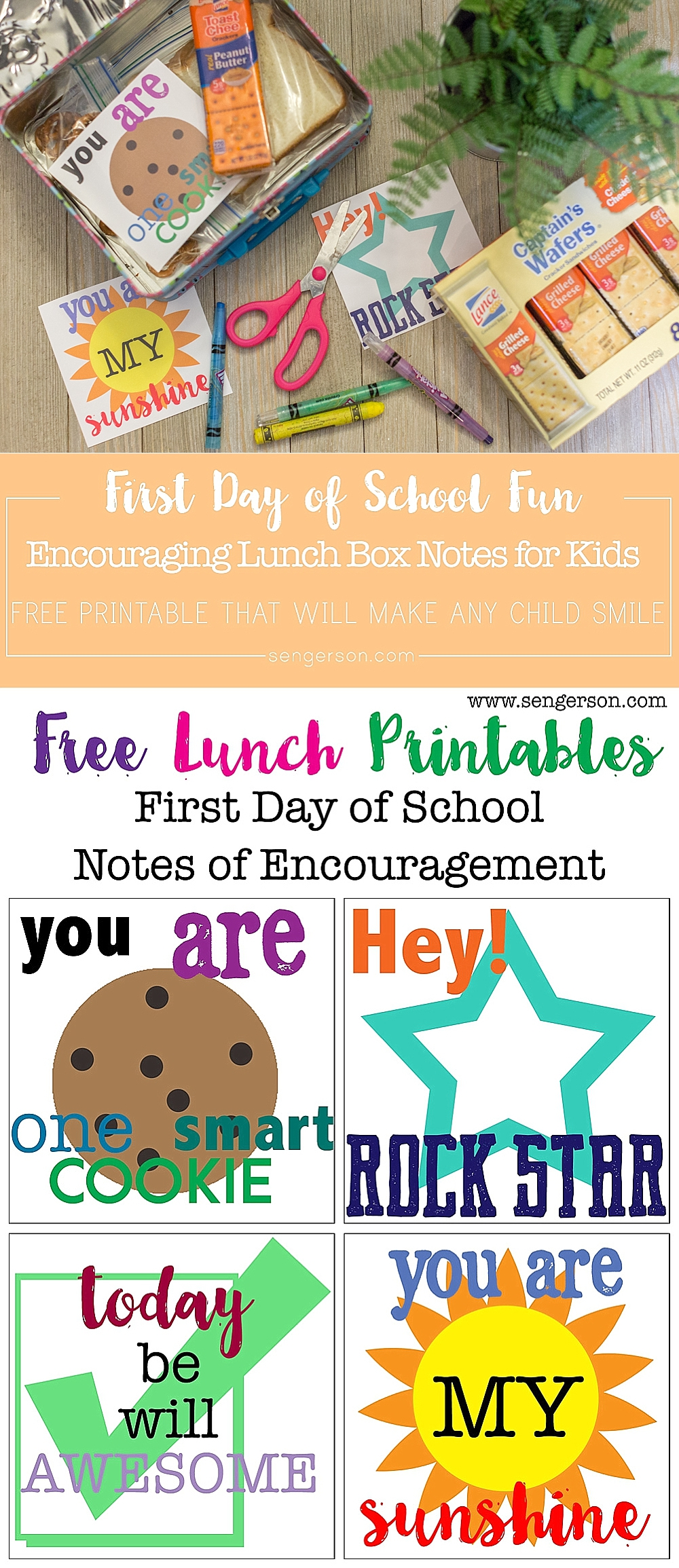 Back To School Lunch Box Printables