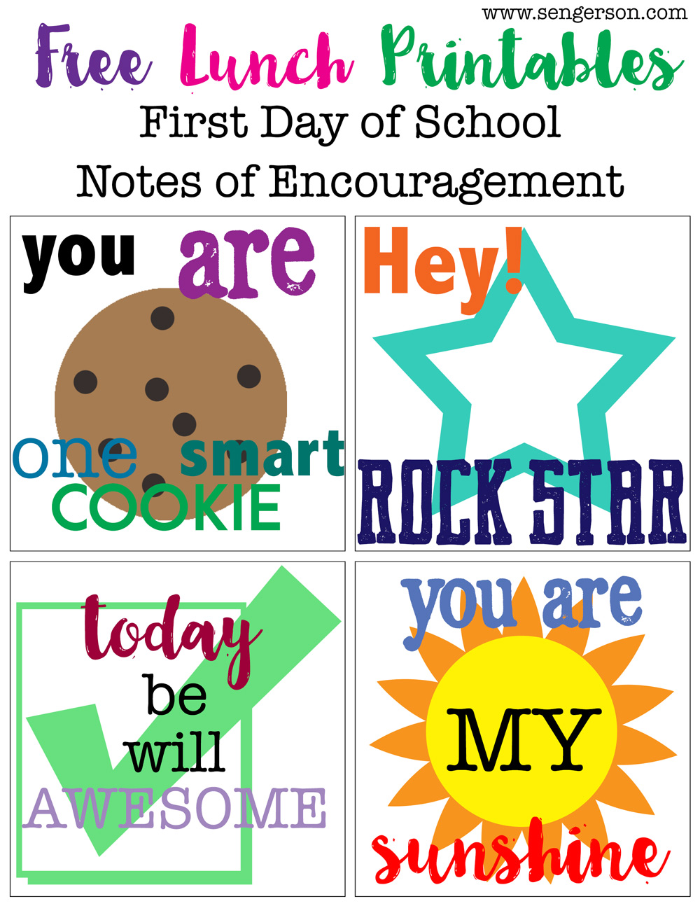 free printable for lunch box encouragement