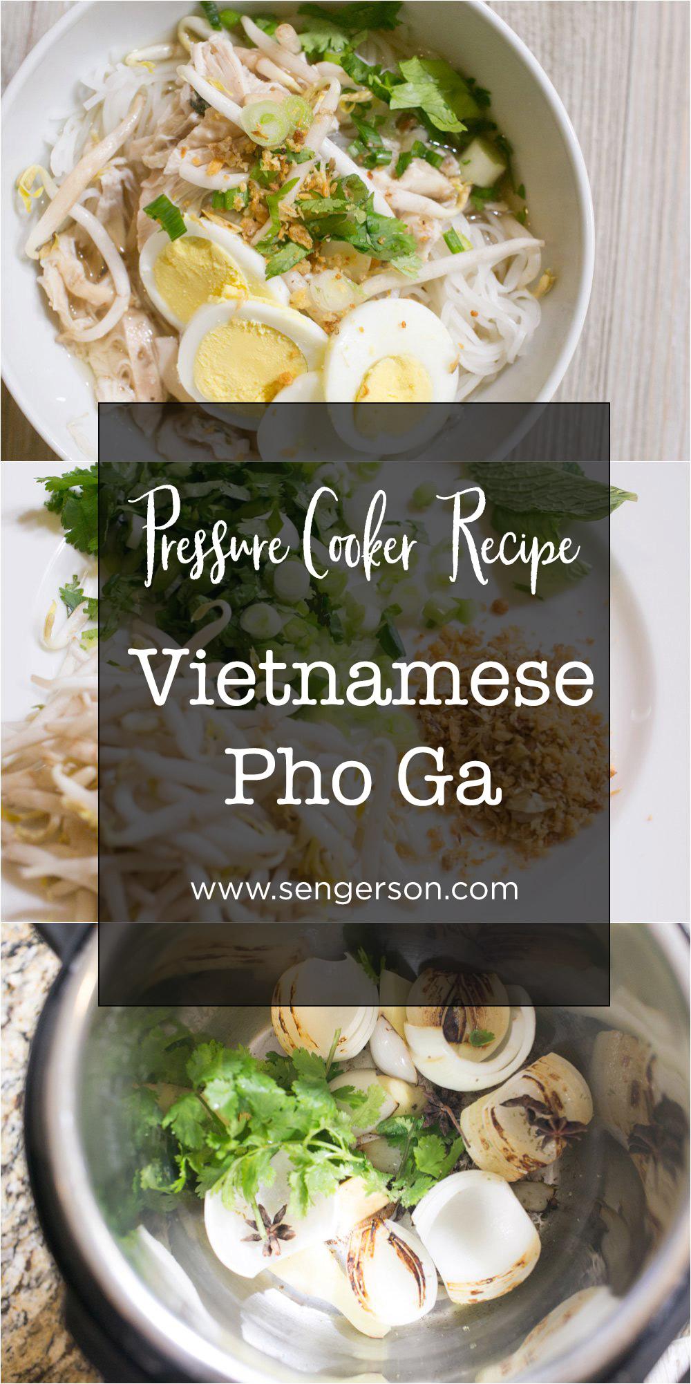 Easy vietnamese pho ga recipe using the pressure cooker.