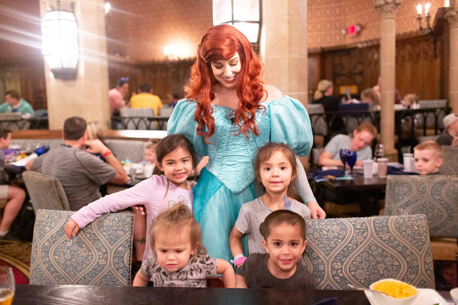 Disney restaurant review at Cinderella's Royal Table photo with Ariel