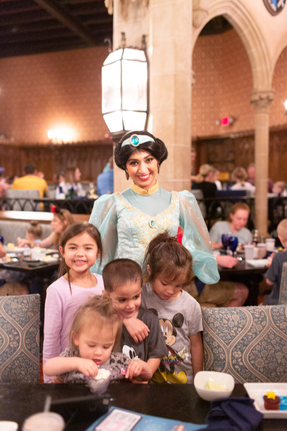 Disney restaurant review at Cinderella's Royal Table photo with Jasmine