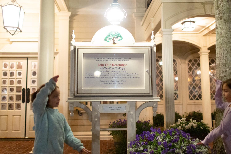 Disney restaurant review at Liberty Tree Tavern at Magic Kingdom Photo