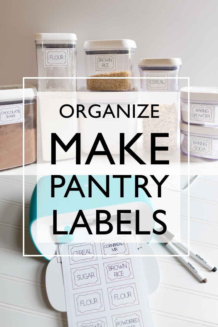 how to make pantry labels with cricut