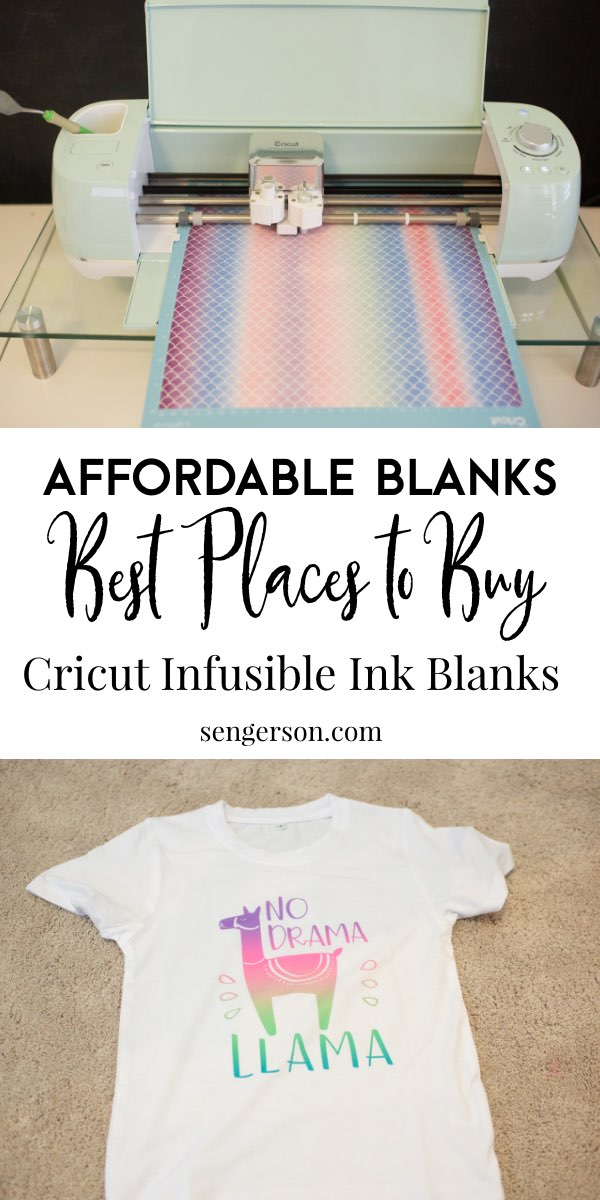 cricut infusible ink blanks sources material