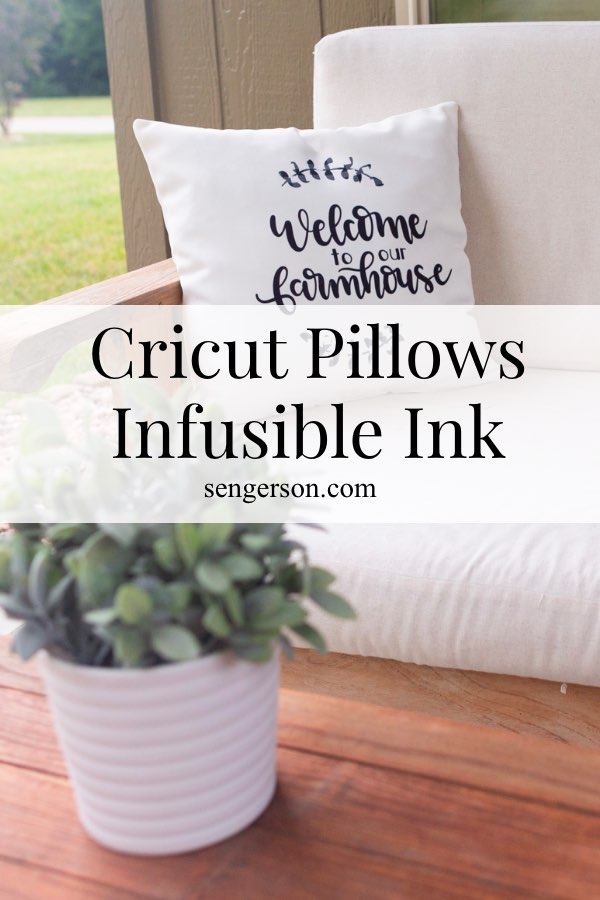how to make cricut pillows with infusible ink sheets