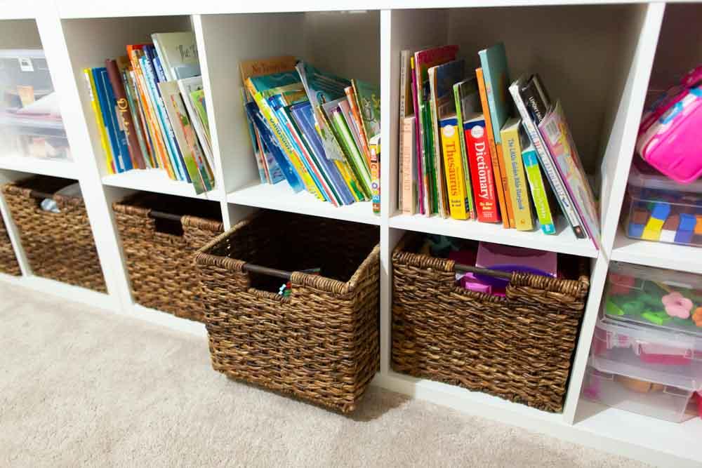 bin wicker basket ideas for storage toys
