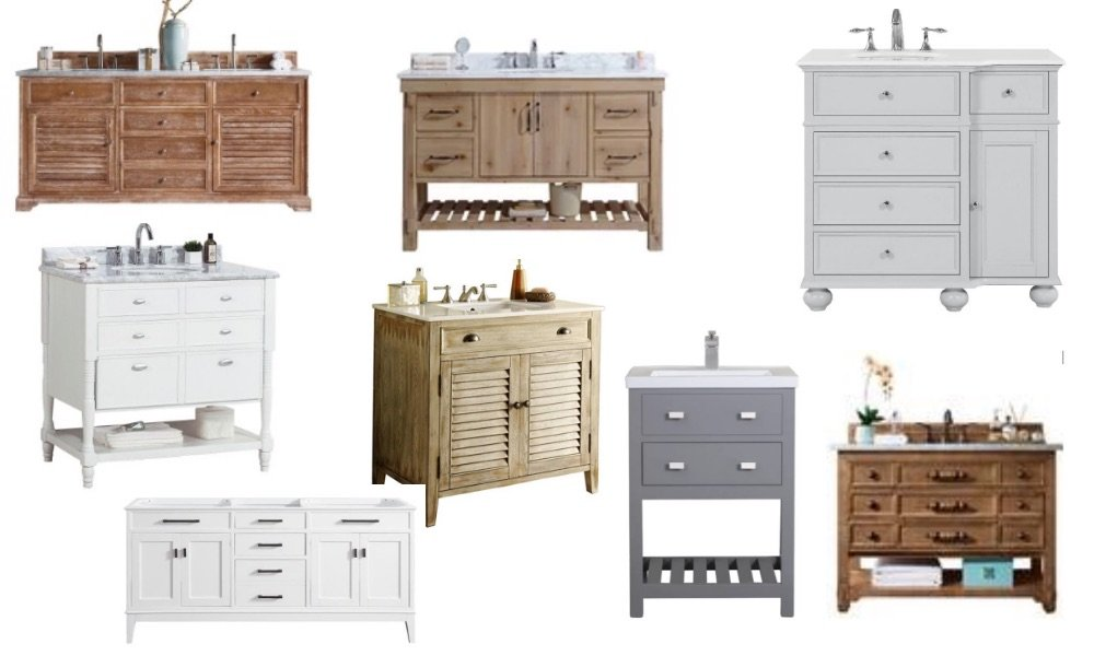 Modern Farmhouse Bathroom Vanities - Ideas and Sources