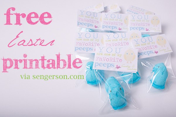 Easy easterspring school or daycare treats with peeps and free free easter printable for peeps daycare negle