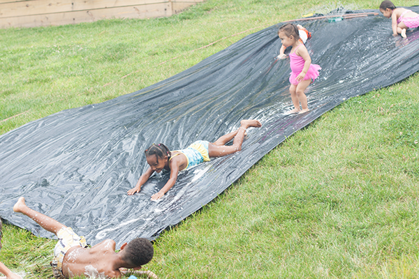DIY Water Slip and Slide