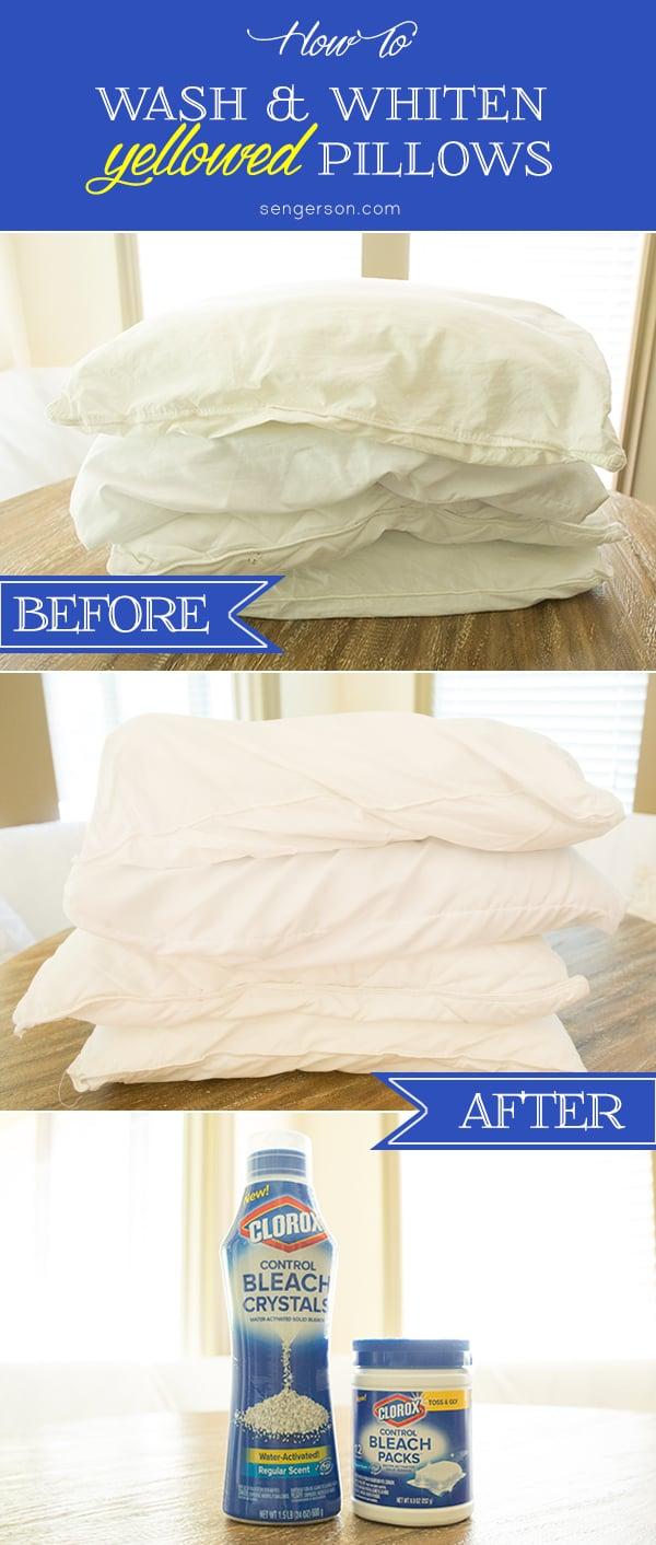 Wash and whiten yellowed pillows - Whiten yellowed pillows ...