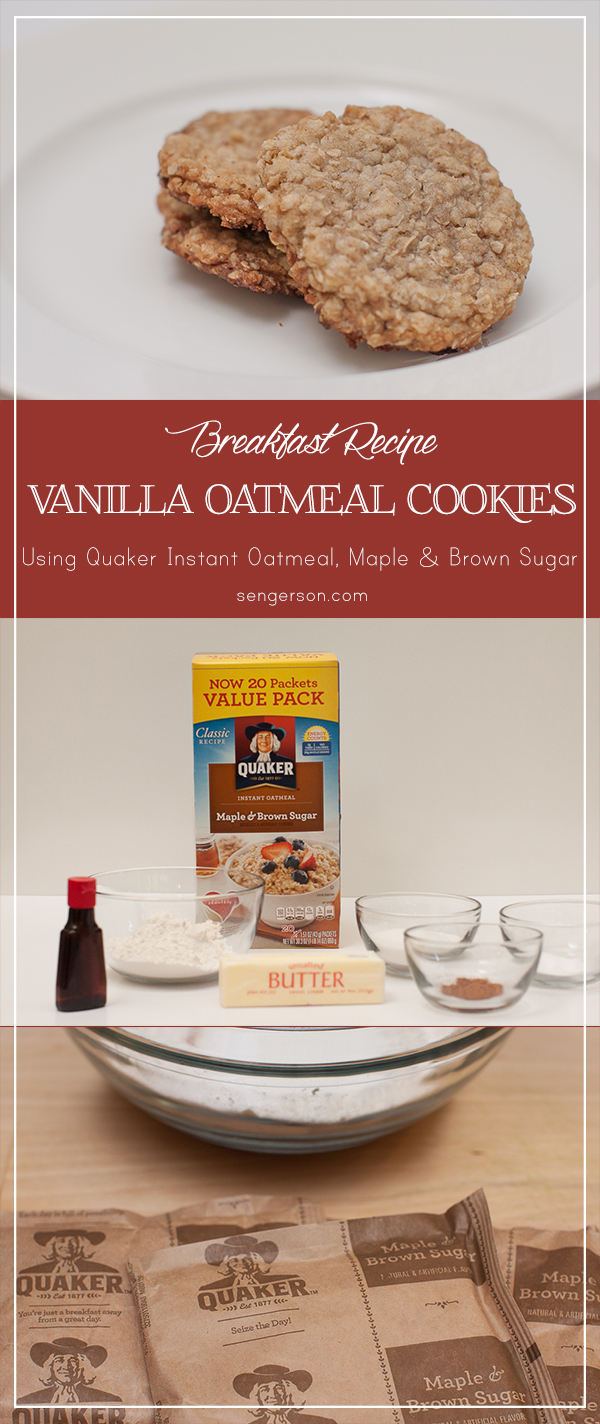 vanilla oatmeal breakfast cookies #QuakerTime #ad