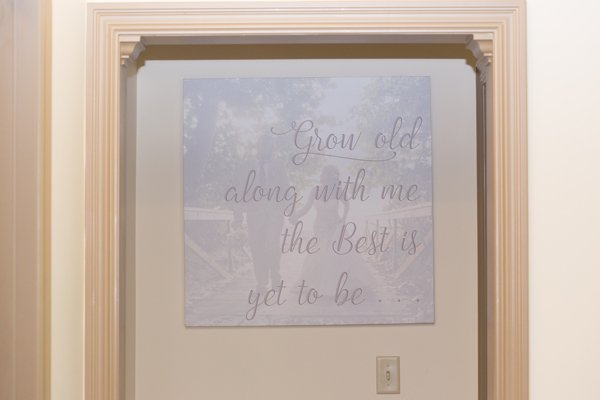 DIY Wedding Vow Art Wall