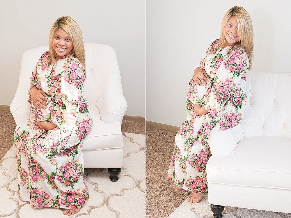 Dress the Bump with a Floral Maternity Robe
