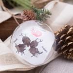 Kissing Reindeer Thumbprint Ornament