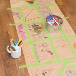 DIY Wrapping Paper with Tape (Using Children's Artwork)