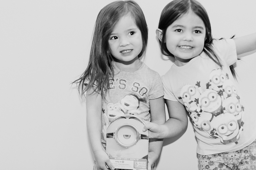 Christmas mini-session with siblings dressed up as santa and elv