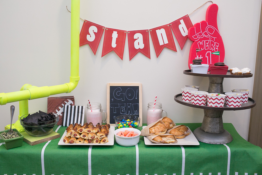 superbowl game day tablescape