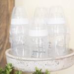 Baby Shower Decor Using Baby Bottle Cake Idea