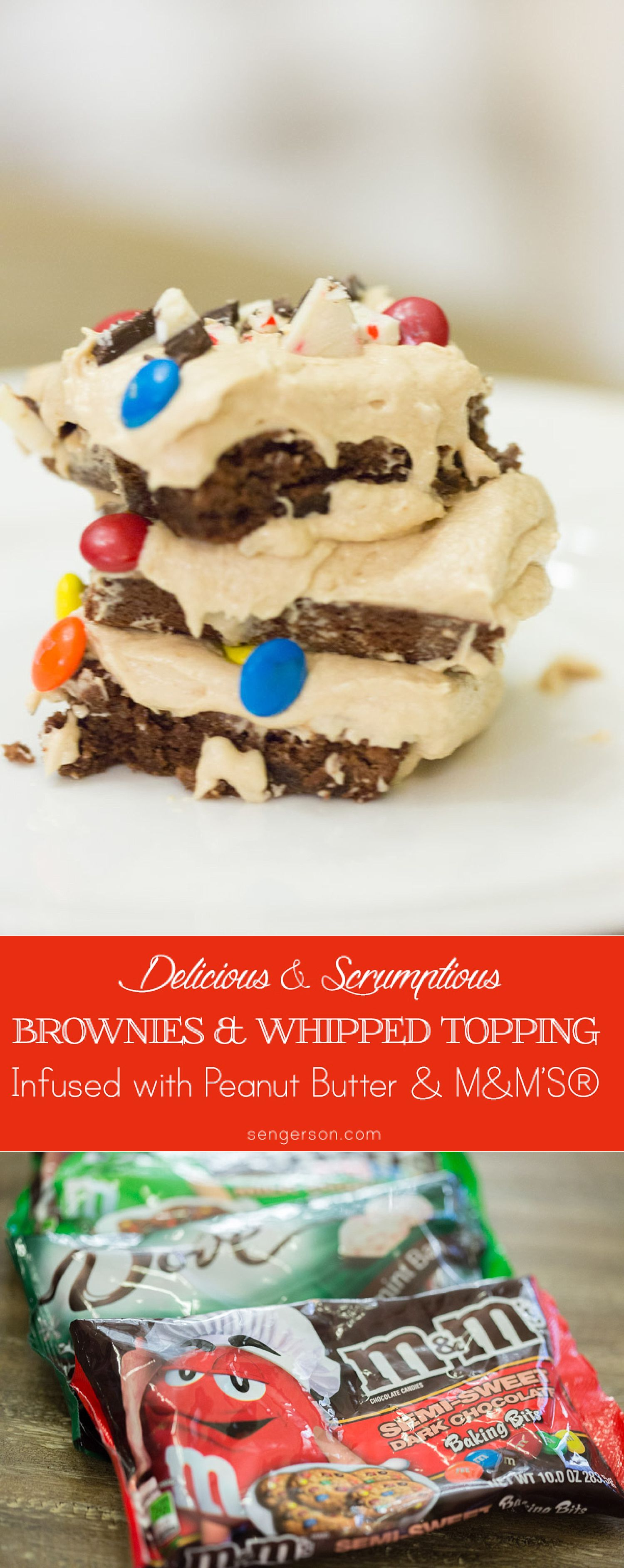 Whipped Peanut Butter Chocolate Fudge Brownies