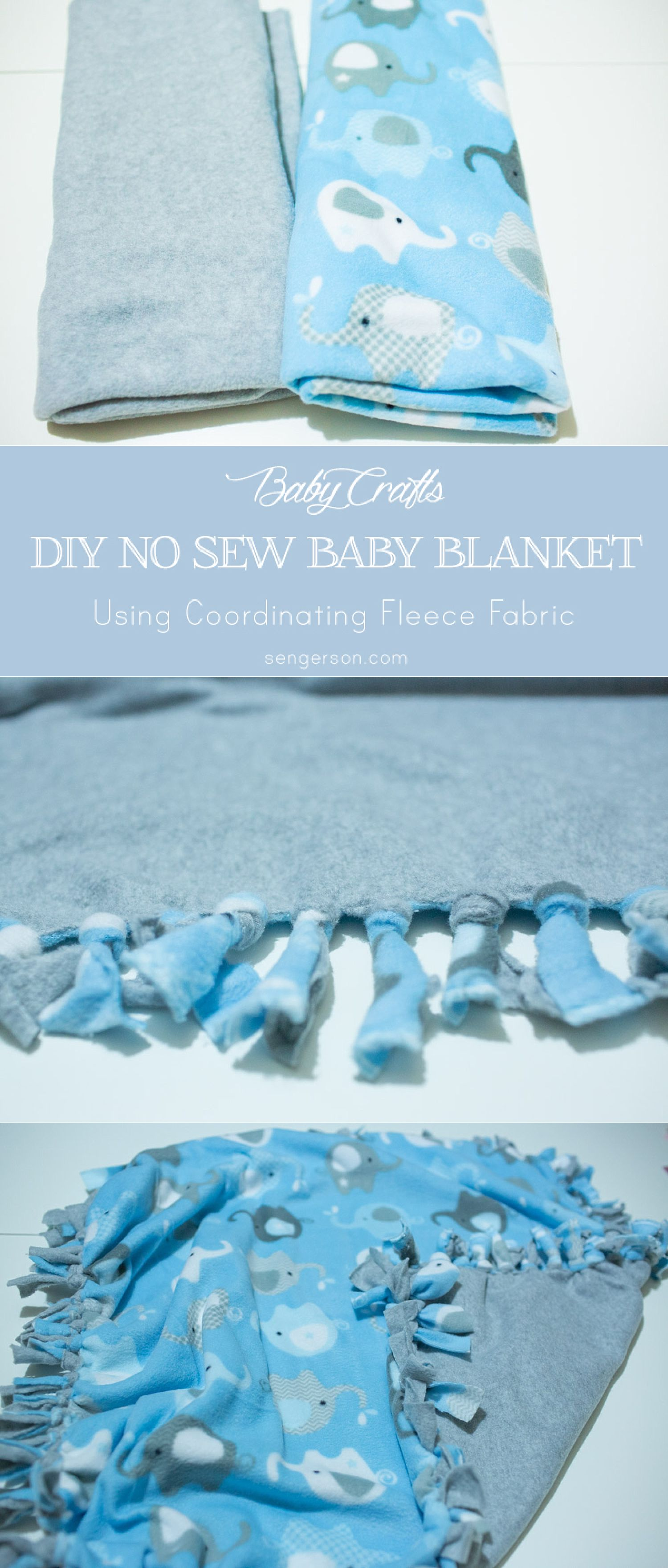 DIY No Sew Baby Blanket