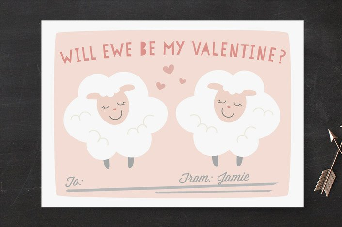 valentine card idea sheep
