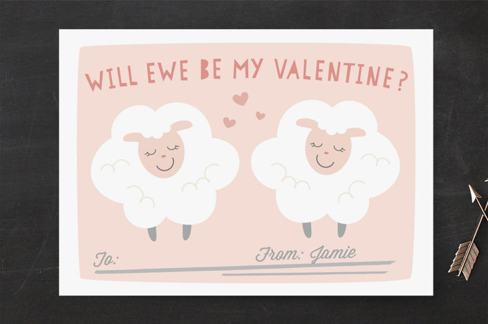 valentine card idea sheep