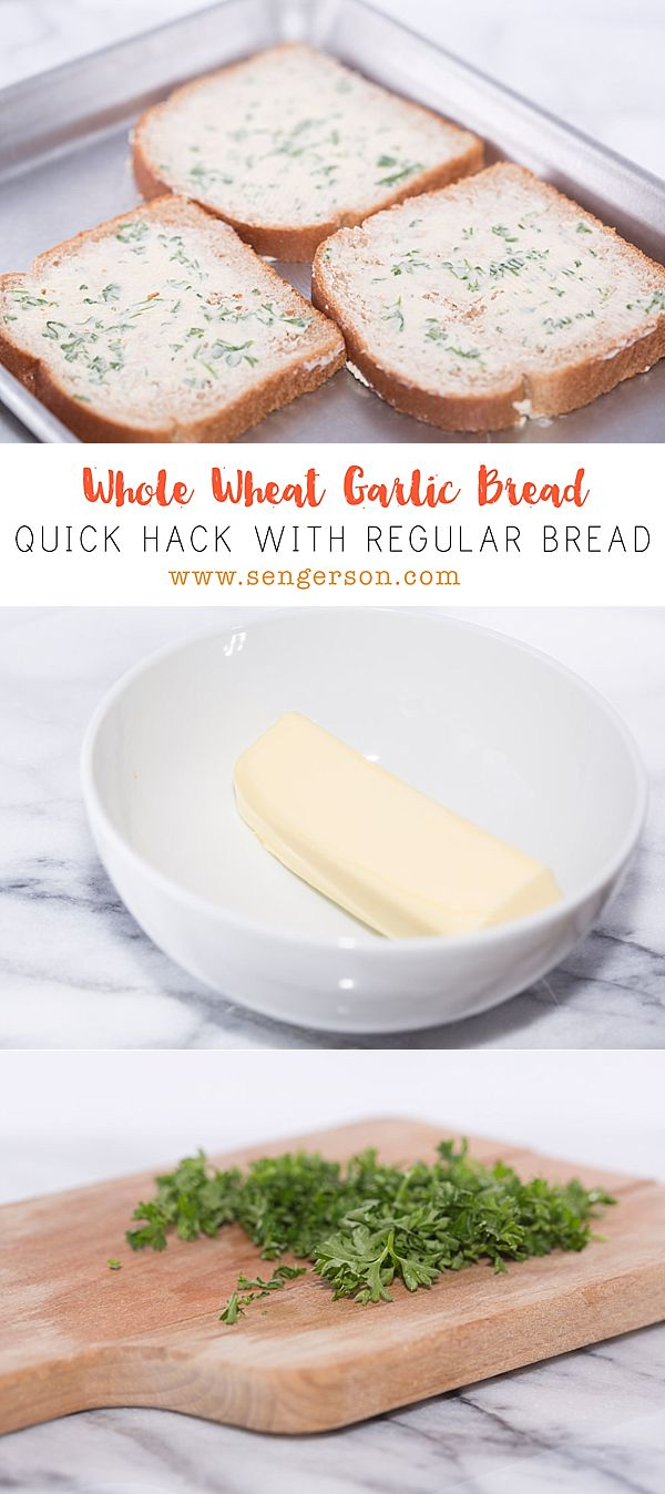 quick and easy garlic bread from regular bread!