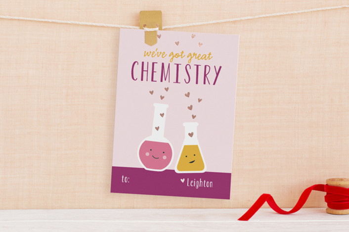 valentine card ideas chemistry