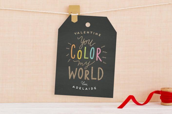 valentine card ideas color