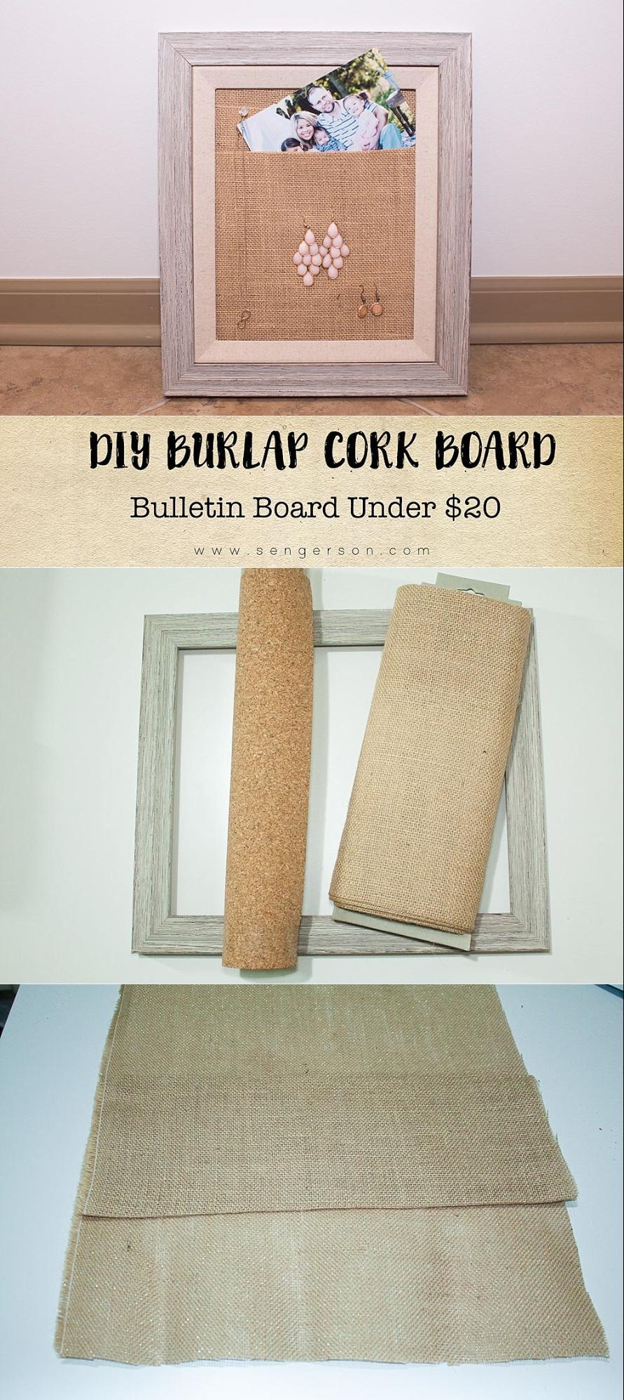 burlap cork board