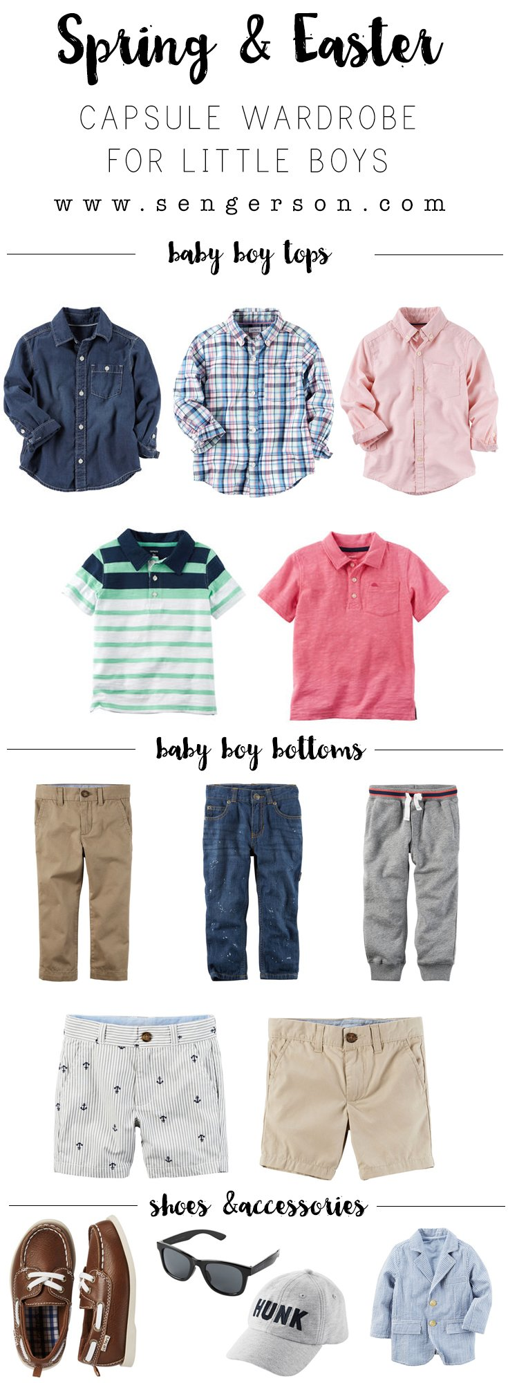 easter and spring capsule wardrobe for boys