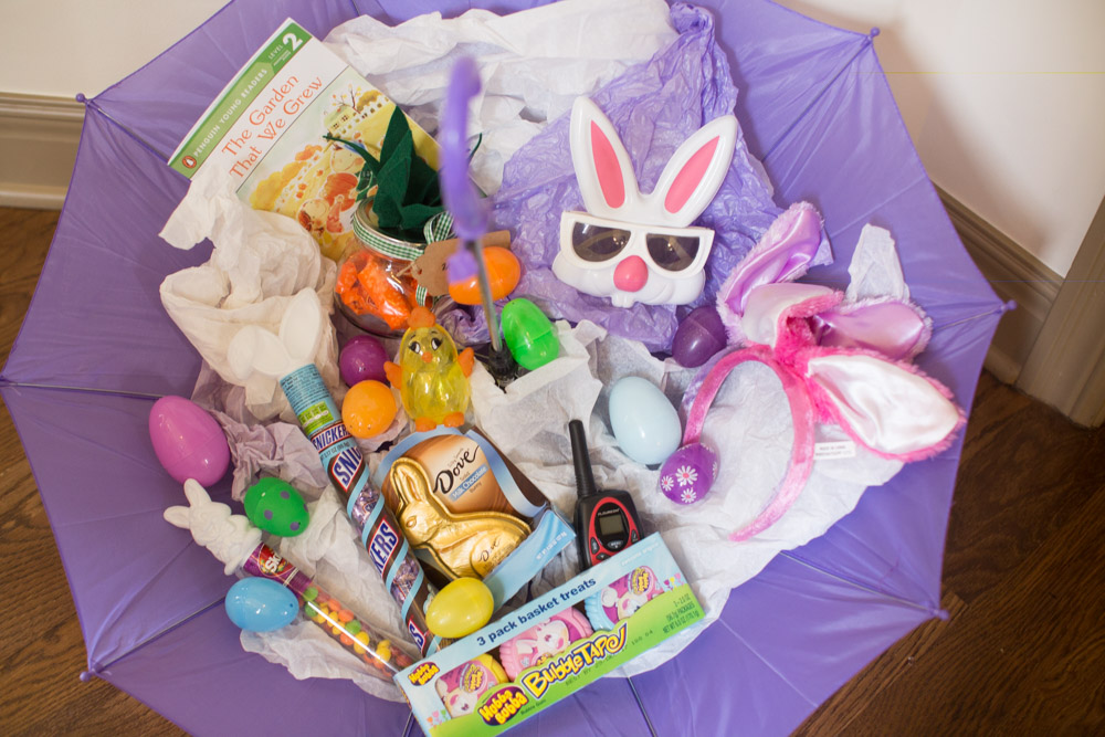 Umbrella basket for easter fun alternative to this annual tradition easter mason jars craft ideas for spring negle Gallery