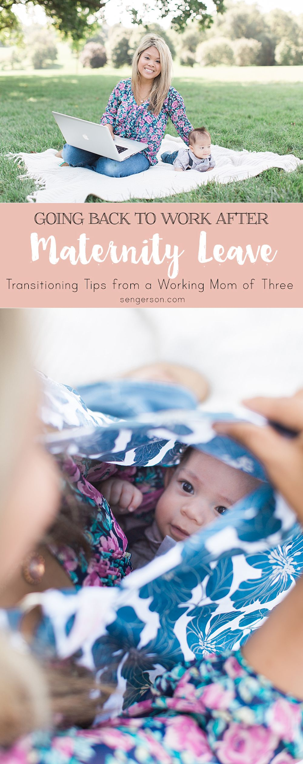 Some tips and tricks from an experienced working mom of three kids on how to manage the initial transition of going back to work after maternity leave. Tried and true tips.