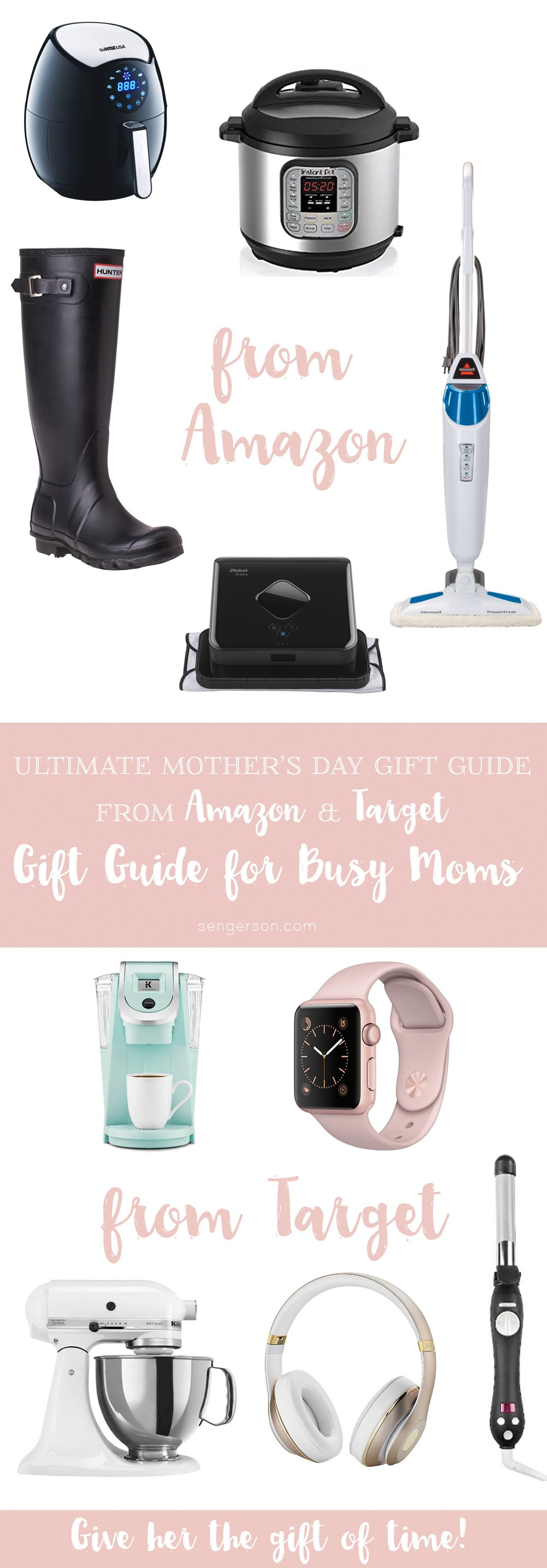 This is the ultimate gift guide for the busy working mom for Mother's Day. This Mother's Day Gift Guide provides the gift of a little extra time with time-saving presents that make every day a little easier. These are thoughtful gifts for mom!