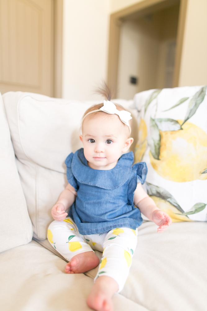 baby milestone nine months