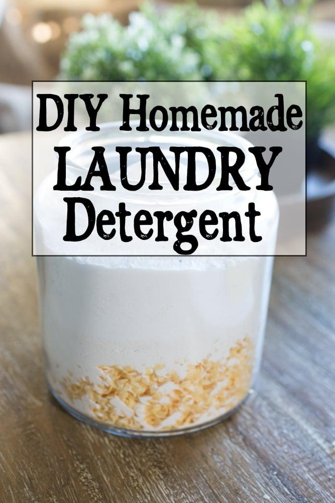 Easy DIY homemade powdered laundry detergent for sensitive skin.