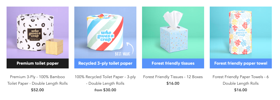 subscription service for toilet paper