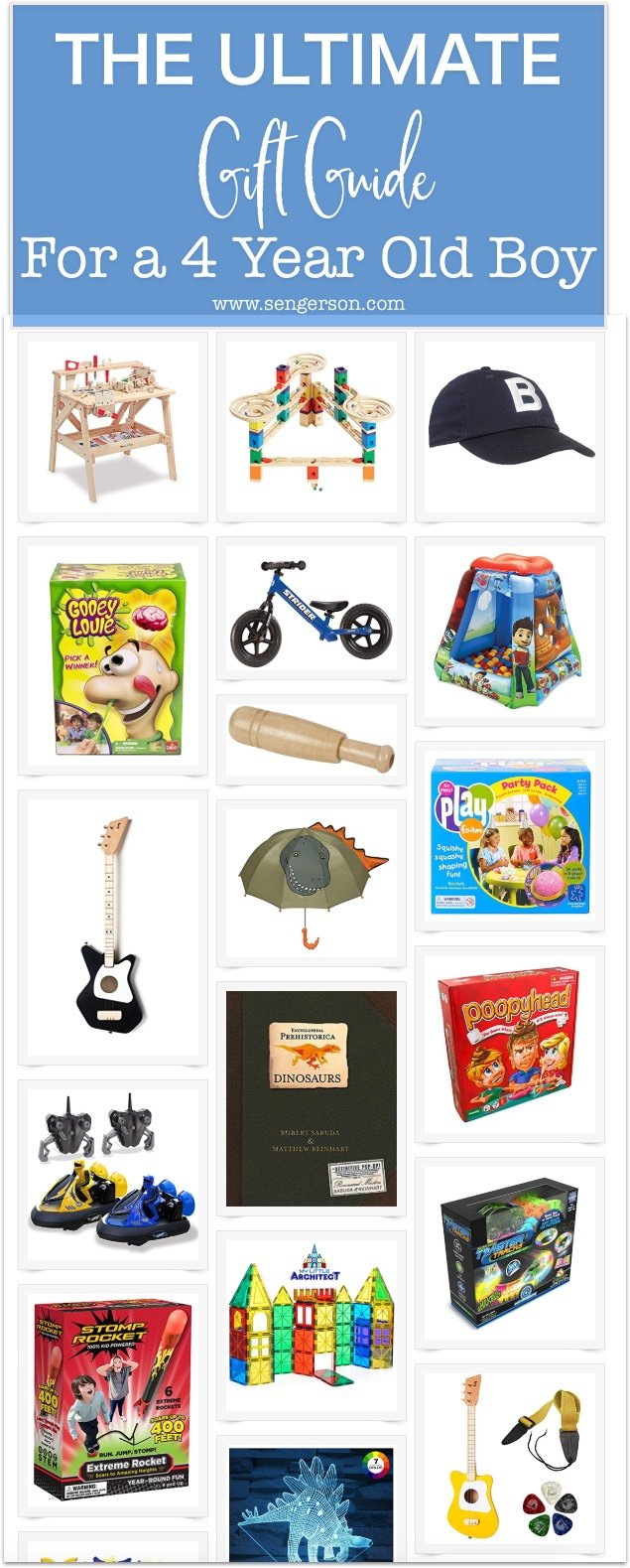 This is the ultimate guide for the best gifts for a 4 year old boy for Christmas or even birthdays! Keep this list handy as I'm sure that this is great for any mom!