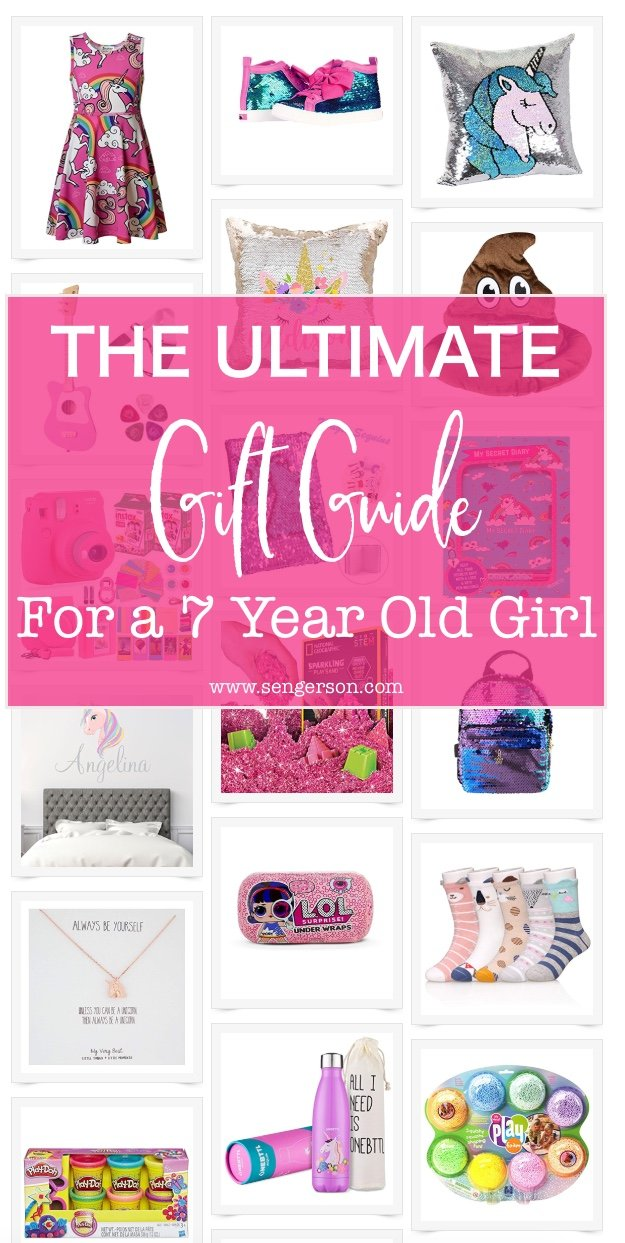Gifts for 7 Year Old Girls - This is the ultimate gift guide for a 7 year old girl (for first grade and second graders). You'll be sure to knock your gift giving out of the park with these gifts!