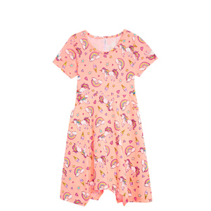 unicorn pink dress for girls and toddlers