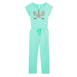 unicorn romper and jumpsuit mint